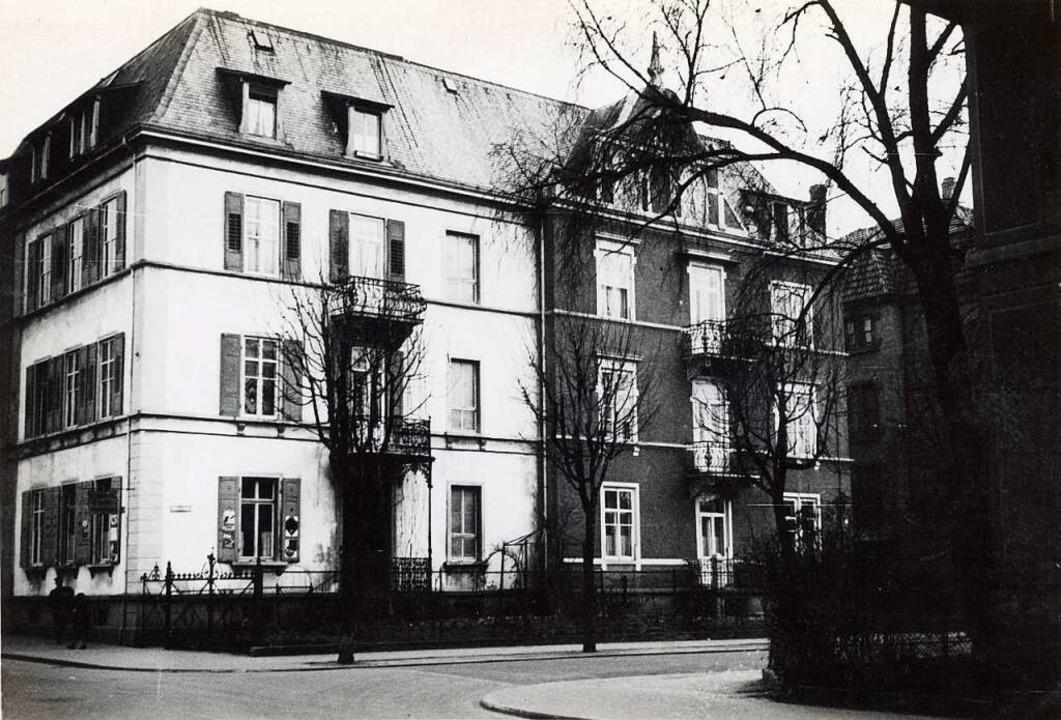 Das Doppelhaus Talstraße 36 und Glümer...1 auf einem um 1930 entstandenen Foto.  | Foto: Stadtarchiv M 70 S_202_27/242