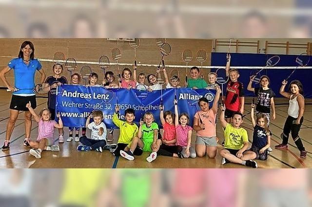 Besuch von der Badminton-Meisterin