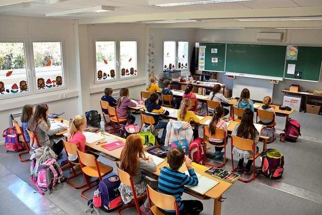 Eschbacher Grundschüler haben seit einer Woche Unterricht in Containern