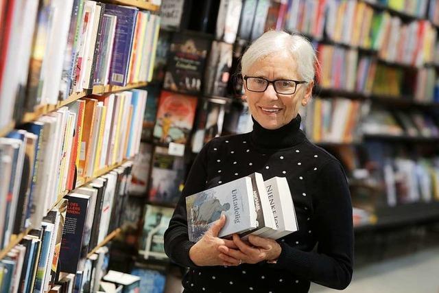 Gabriele Heinitz arbeitet seit 50 Jahren in der Buchhandlung Machleid