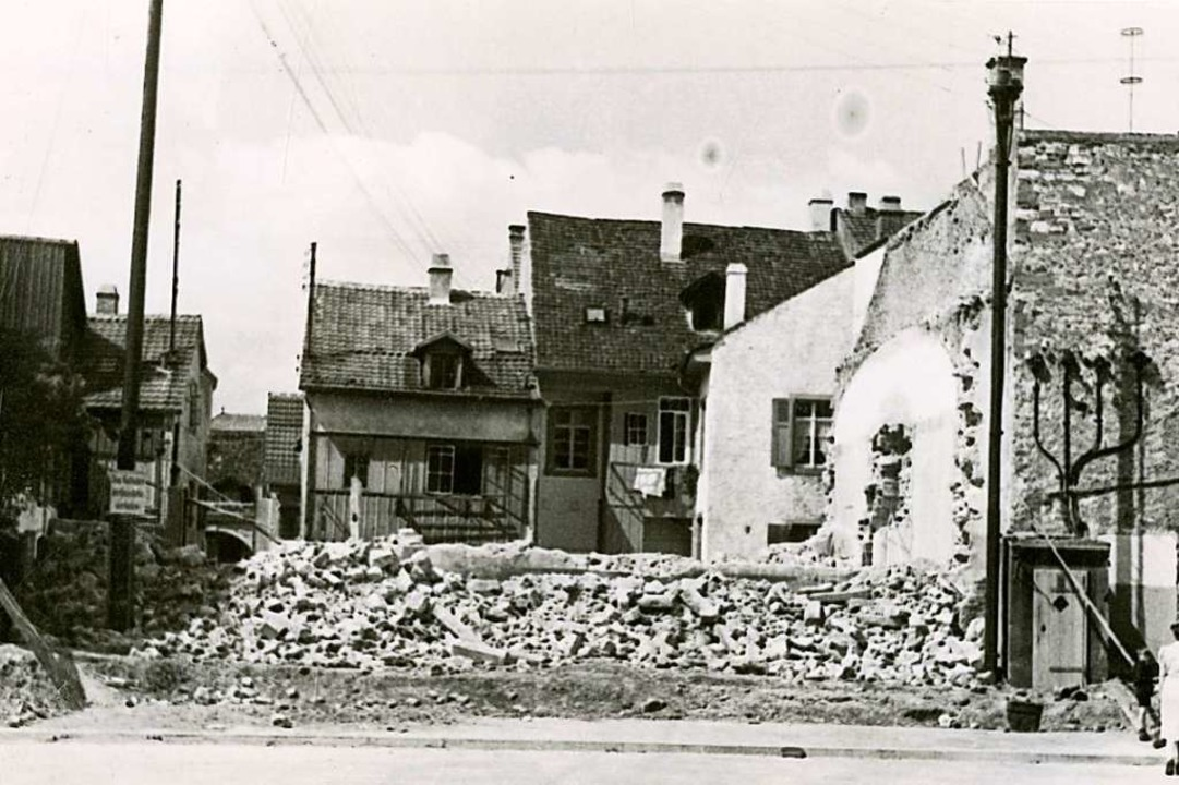 Die Lörracher Synagoge nach dem Abriss  1939    Foto: Stadtarchiv Lörrach