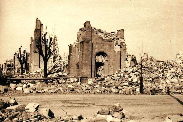 Freiburgs erste evangelische Kirche ging 1944 im Bombenhagel unter
