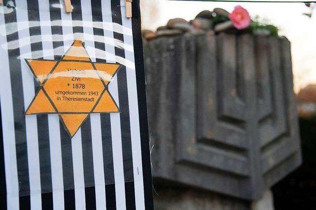 Schweigemarsch durch Müllheim anlässlich des Jahrestags der Reichspogromnacht