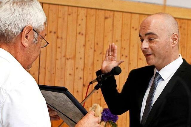 Schuttertals Bürgermeister Matthias Litterst blickt auf spannende 100 Tage im Amt