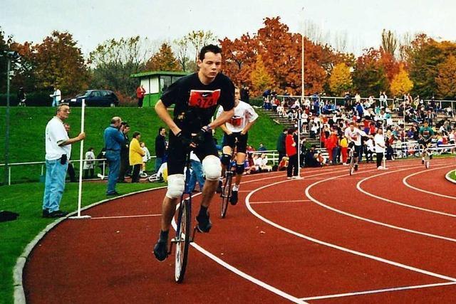 Der Albbrucker Michael Kempf schaffte es bis zum Einrad-Weltmeister