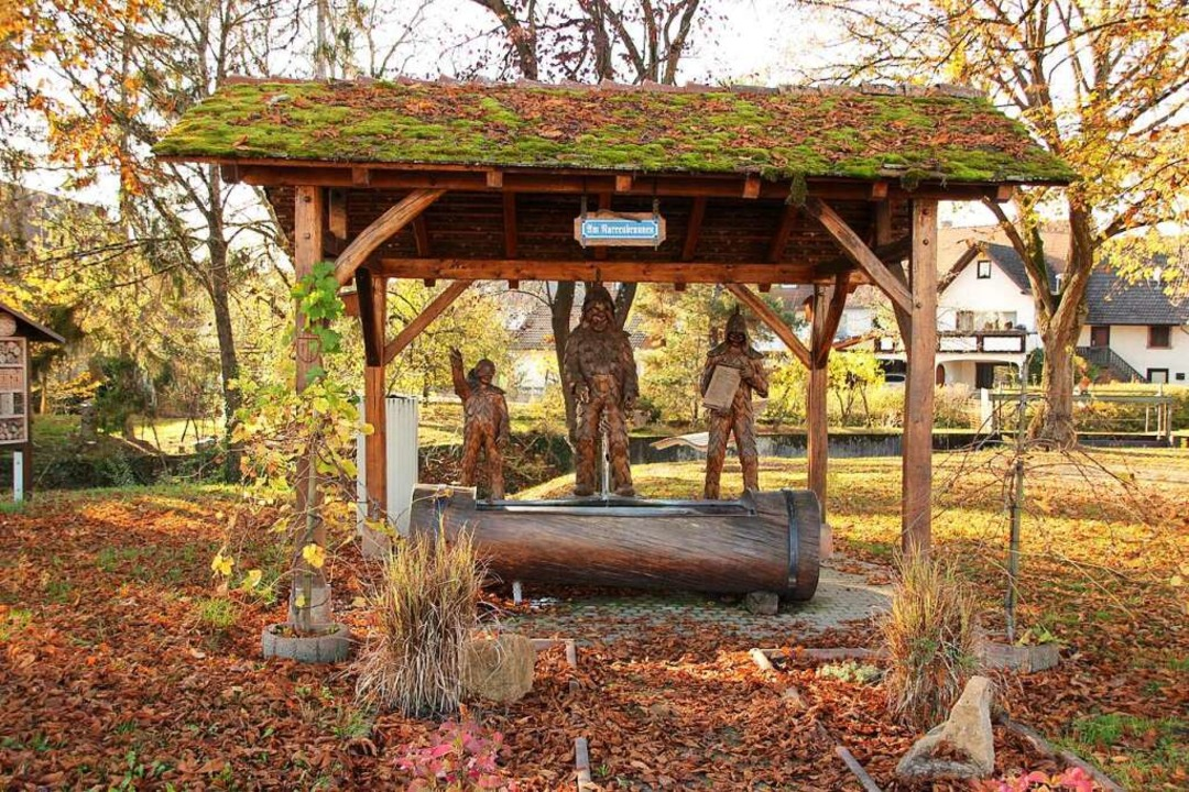 Der von der Narrenzunft Krutstorze ges... gepflegte Narrenbrunnen in Gottenheim  | Foto: Mario Schöneberg