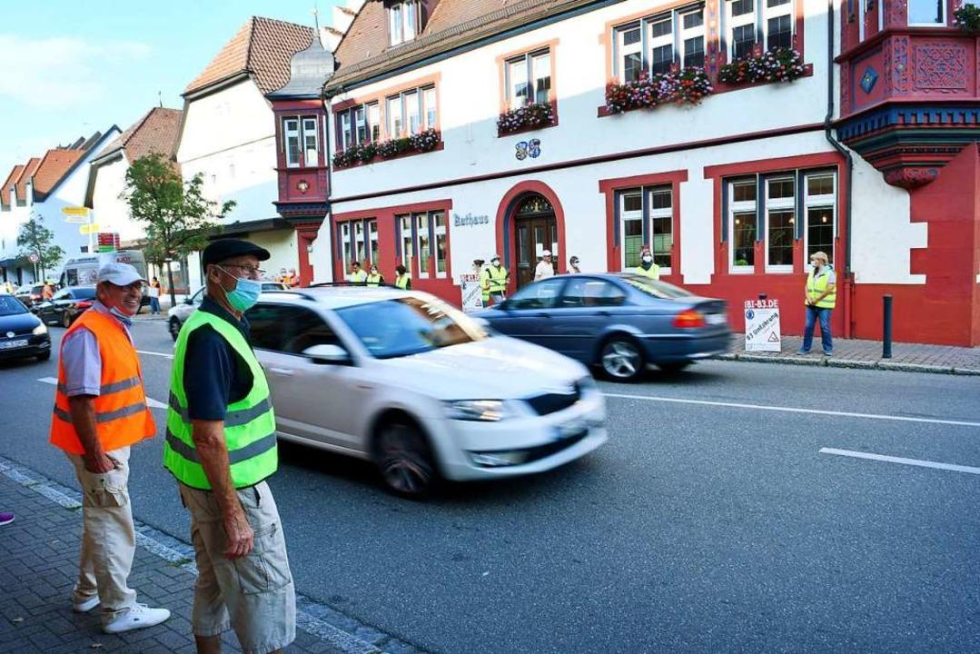 Ende September wurde in Kippenheim für die Kreisstraße demonstriert.  | Foto: Wolfgang Künstle