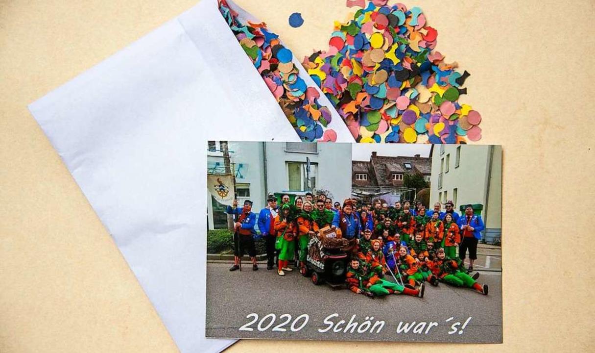 Bunte Überraschung: Die aktiven Mitgli...äsent zum 11.11. in ihren Briefkästen.  | Foto: Volker Münch