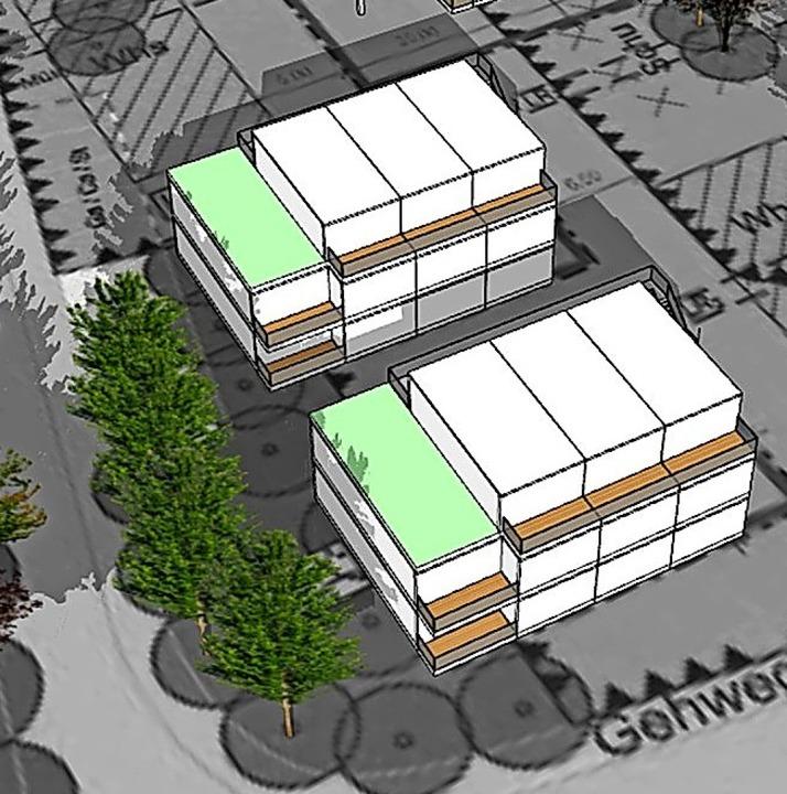Zwei Häuser will die Wohnbau im Stadtteil Otterbach realisieren.  | Foto: Woge