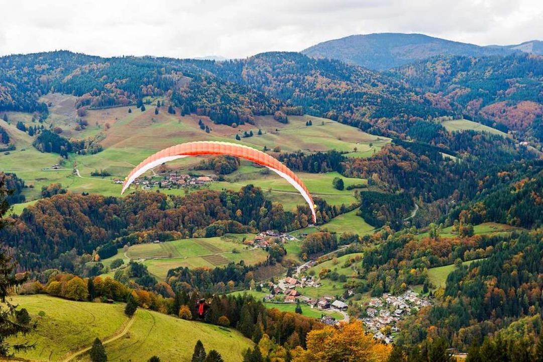 Den Traum vom Fliegen durfte BZ-Redakteurin Sarah Trinler erleben.  | Foto: Daniel Schoenen