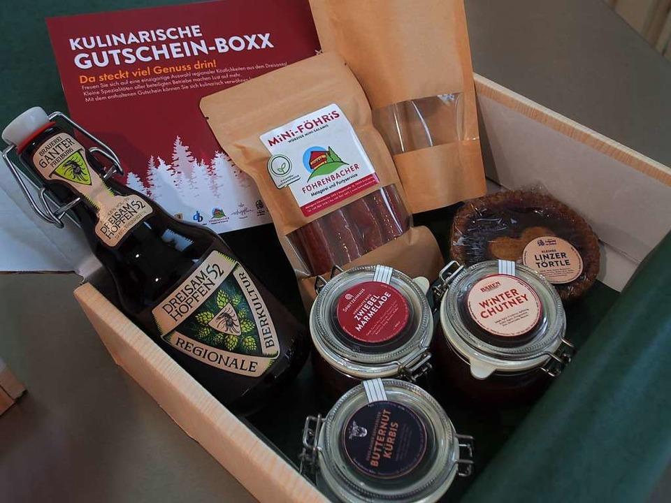 Die kulinarische Gutschein-Boxx aus dem Dreisamtal  | Foto: Markus Donner