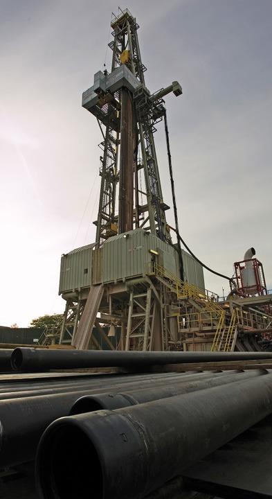 Der Bohrturm des mittlerweile eingestellten  Basler Geothermie-Projekts  | Foto: Geopower