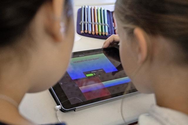 Sonnenrainschüler bekommen Tablets