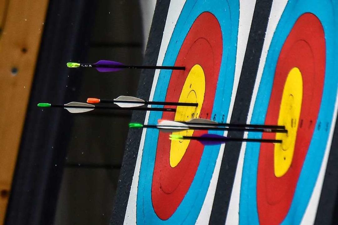 So sehen die Zielscheiben beim Bogenschießen aus    Foto: LUIS ROBAYO