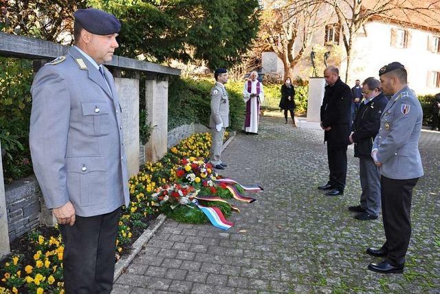 In Hertingen und Müllheim gab es kleine Gedenkfeiern
