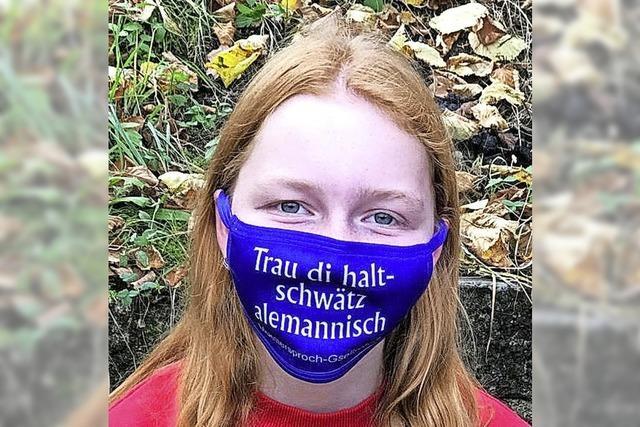 BEOBACHTET & GEHÖRT: Maskenbotschaft auf Alemannisch