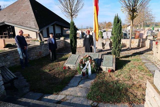Stilles Gedenken und Appell an die deutsch-französische Freundschaft