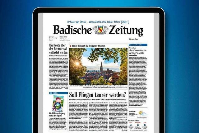 Testen Sie die neue digitale Badische Zeitung!
