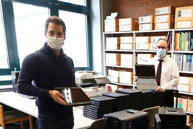 Am Seelbacher Bildungszentrum gibt es jetzt 120 Tablets für den Fernunterricht