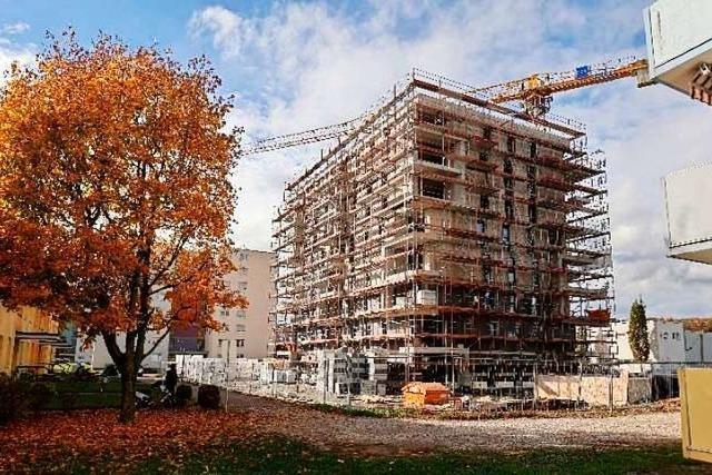 Wohnbau Rheinfelden feiert Richtfest beim Bau von 94 neuen Wohnungen