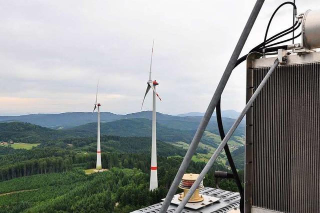 Der Windpark Kambacher Ecke bei Schuttertal erzielt ein Rekordergebnis