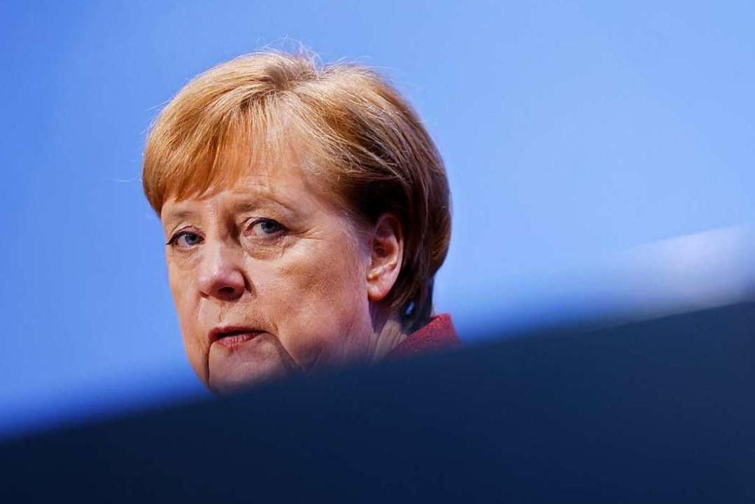 Bundeskanzlerin Angela Merkel appellie...te noch einmal deutlich zu reduzieren.    Foto: ODD ANDERSEN (AFP)