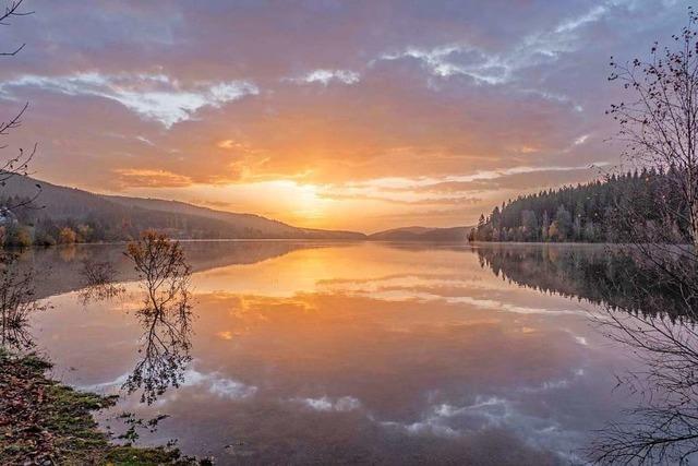 Magische November-Morgenstimmung am Schluchsee