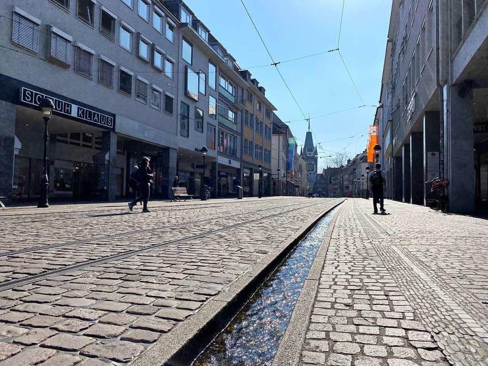 In der Freiburger Innenstadt gab es am Montag zwei Raubüberfälle  | Foto: Anika Maldacker