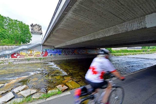 Der Dreisamradweg wird vier Wochen lang gesperrt