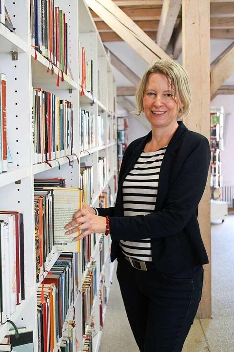 Bibliotheksleiterin Sabine Dietrich  | Foto: Annika Sindlinger