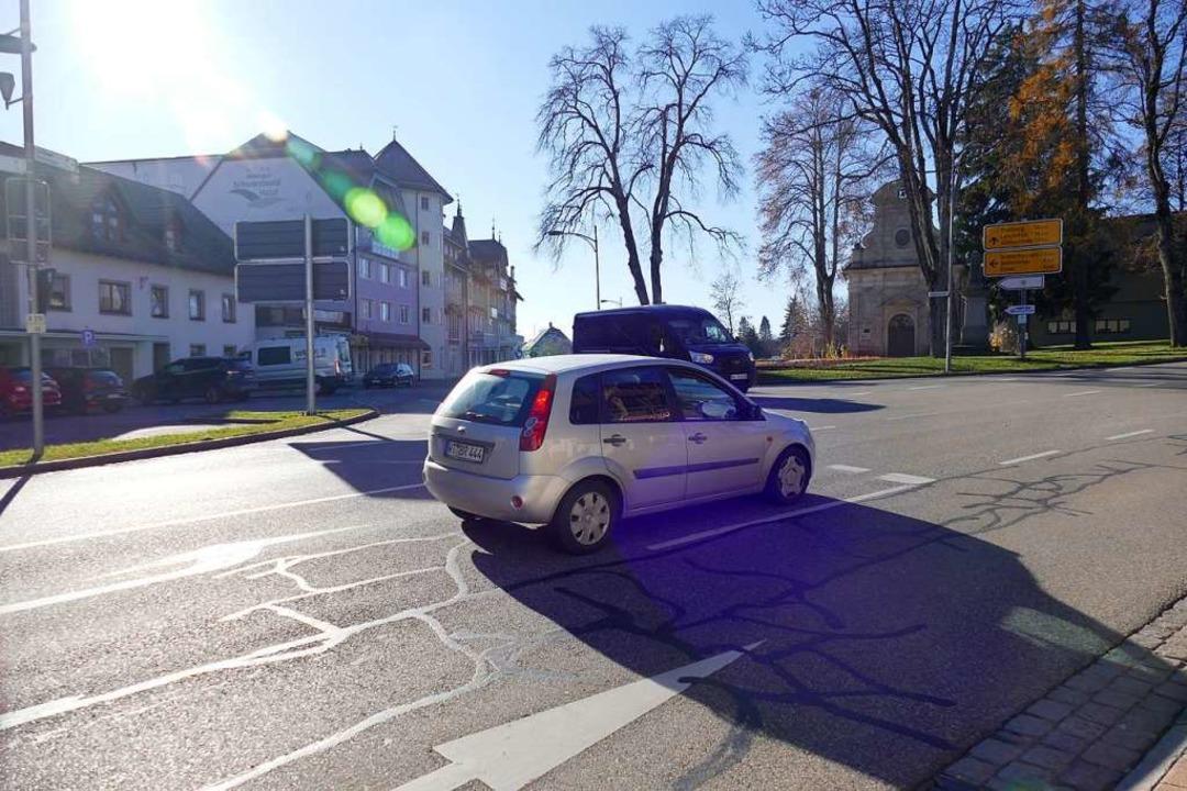 Die Einmündung B315/Rothausstraße könn...iten an ihre Kapazitätsgrenze stoßen.   | Foto: Juliane Kühnemund