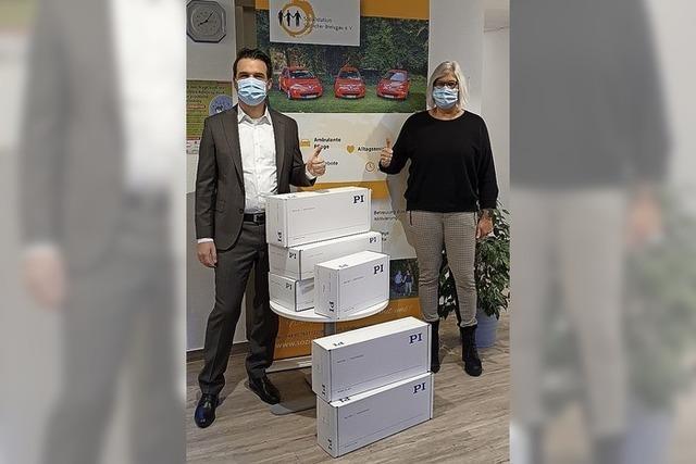 Schutzmasken gespendet