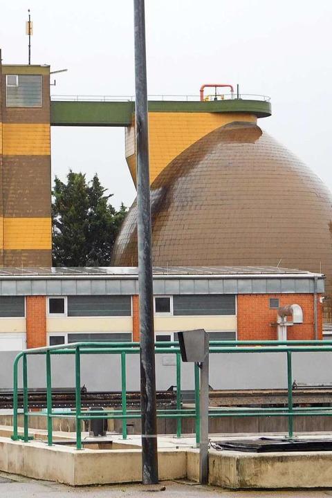 Der Faulturm der Kläranlage muss saniert werden.  | Foto: Hans-Jochen Voigt