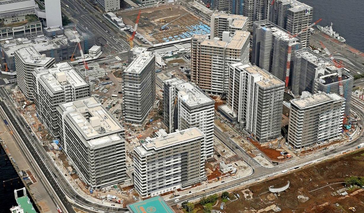 Das olympische Dorf in Tokio, hier eine Luftaufnahme von 2019  | Foto: - (dpa)