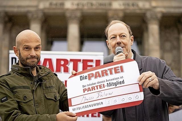 Satire-Partei sitzt jetzt im Bundestag