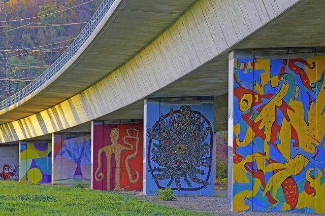 Street Art unter der Autobahn