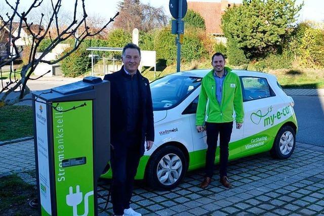 Am Rathaus in Ballrechten-Dottingen kann jetzt Strom getankt werden