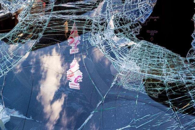 20-Jähriger beschädigt in Freiburg 14 Autos und greift Polizeibeamten an