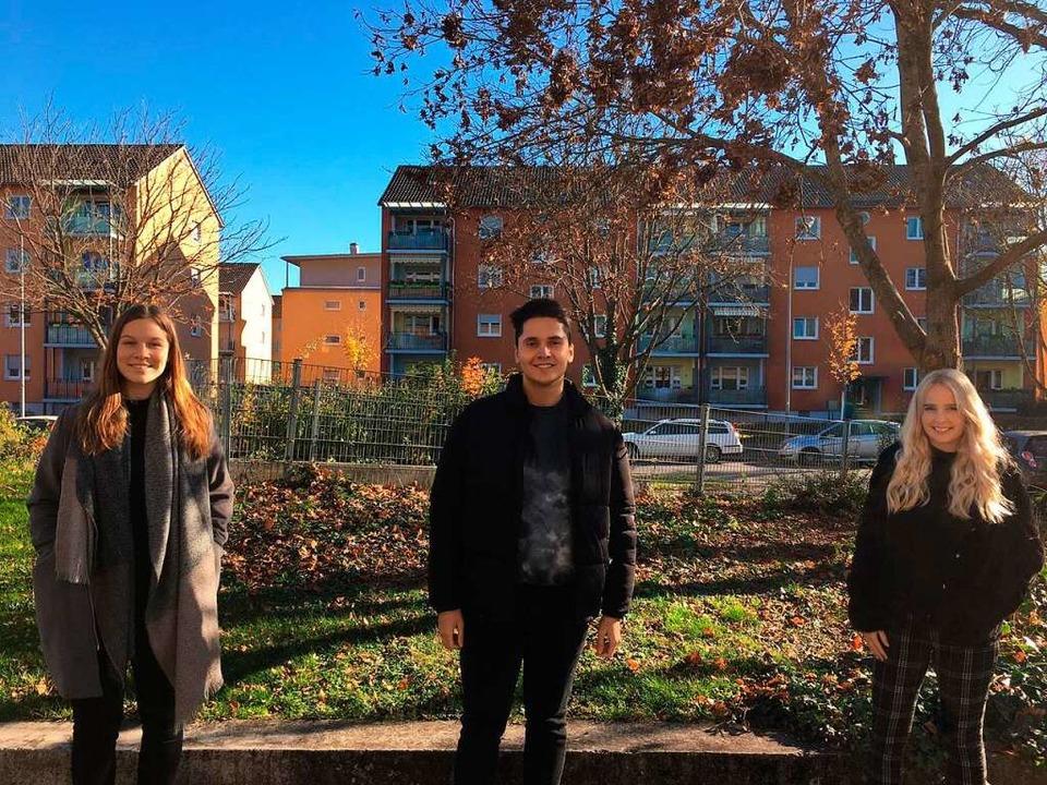 Unsere neuen JAV Mitglieder: Angelina, Fabian und Hannah  | Foto: BZ-Azubis