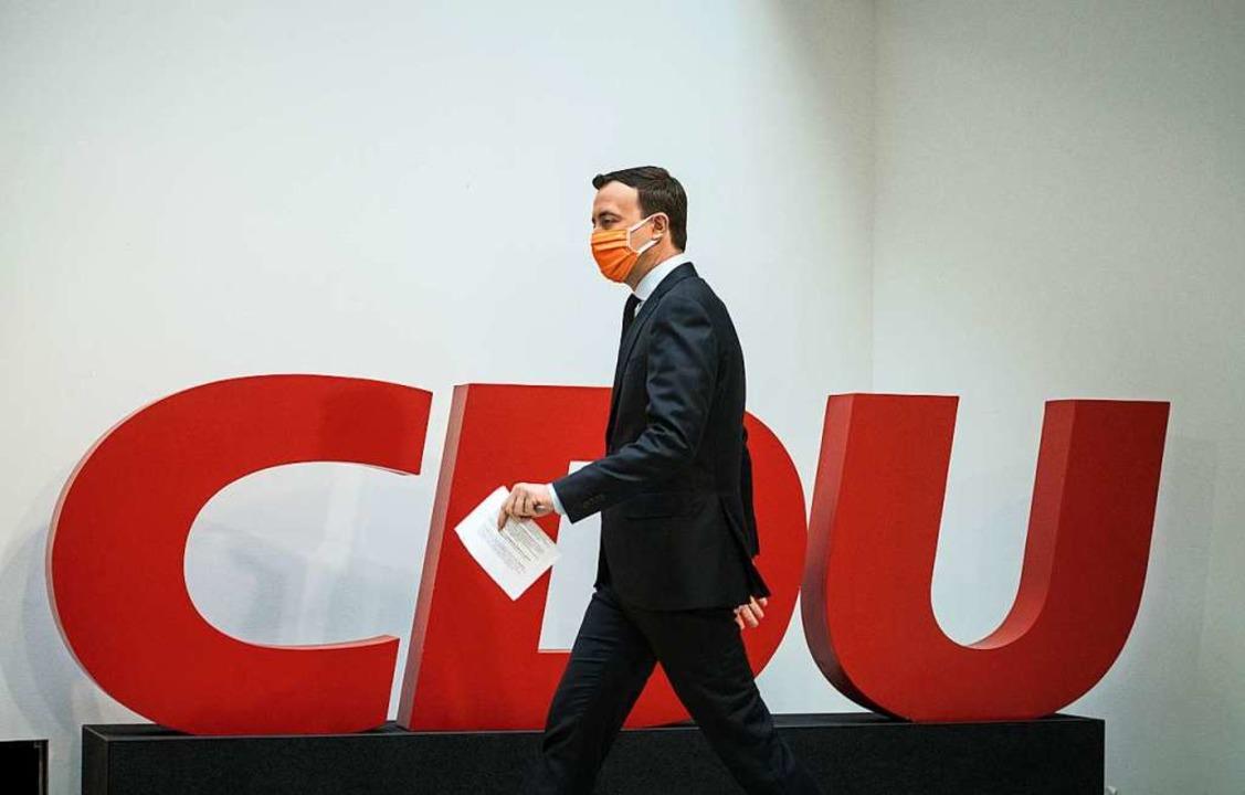 Die CDU wird dieses Jahr unter Coronabedingungen einen neuen Parteichef wählen.  | Foto: Stefanie Loos (dpa)