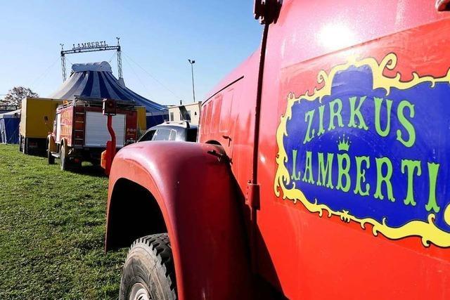 Zirkus Lamberti in Schlatt gestrandet