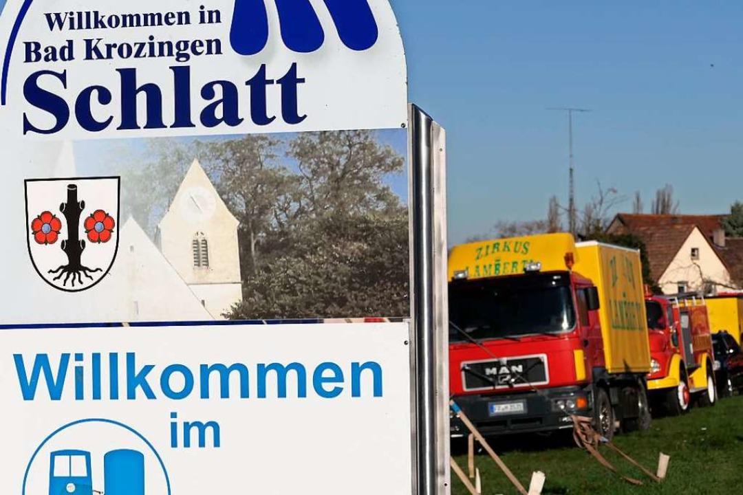 Im Bad Krozinger Ortsteil Schlatt gestrandet: Zirkus Lamnerti  | Foto: Hans-Peter Müller