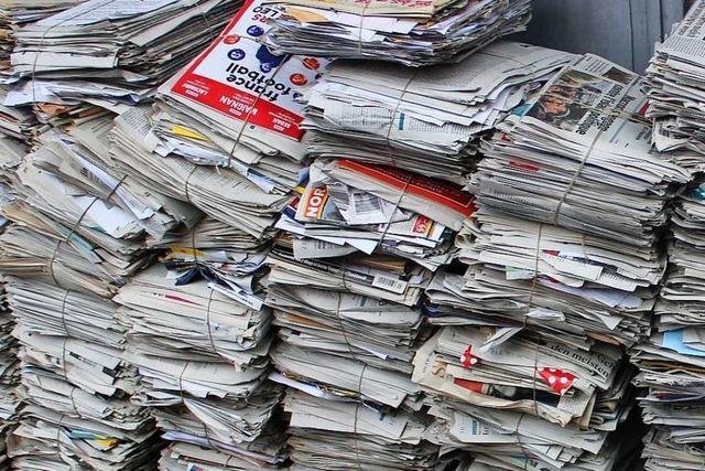 Profitieren Vereine davon, dass die Papiertonne im Kreis Lörrach jetzt Geld kostet?