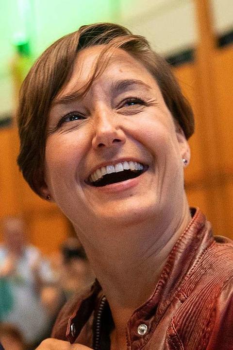 Die Landesvorsitzende der Grünen: Sandra Detzer    Foto: Sebastian Gollnow (dpa)