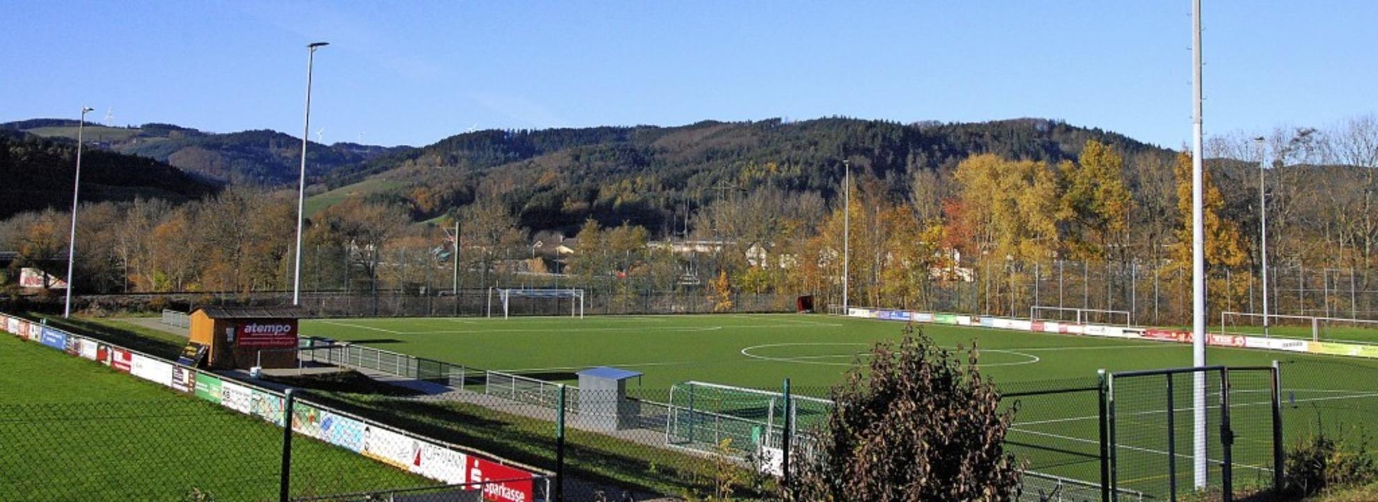 Die Flutlichtanlage des Gutacher Sport...– Darum ging es im Gemeinderat.   | Foto: Dorothea Scherle