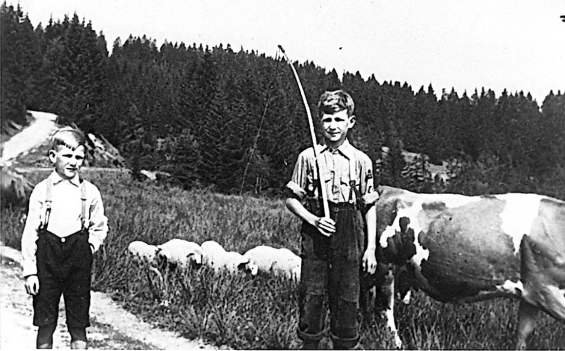 Ein alltägliches Bild: Hütekinder im Schwarzwald  | Foto: Karl Wehrle