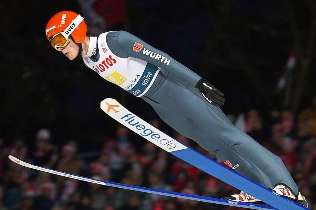 David Siegel (24, Titisee-Neustadt) ge... Weltcupteam zum Saisonstart nicht an.  | Foto: JANEK SKARZYNSKI
