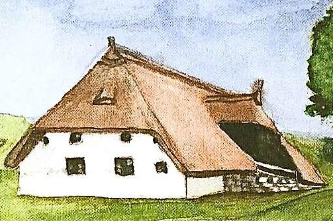 In einem solchen Bauernhaus stellt man...aubernde Mägdelein vom Hotzenwald vor.  | Foto: Richard Kaiser