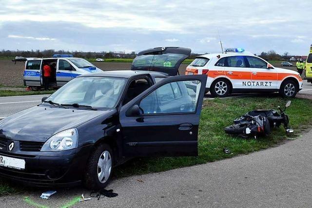 Schwerer Unfall auf der L104 in Schwanau
