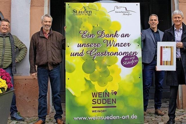 Staufen als Weinort ausgezeichnet
